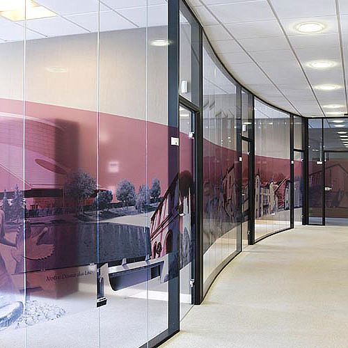 Hoyez UNIVERSE Edge to edge glazing H9 Transparence Glass partition TRAVERSE LOAD