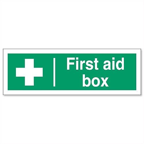 First Aid Box A4 Rigid Sign 21 x 29.7
