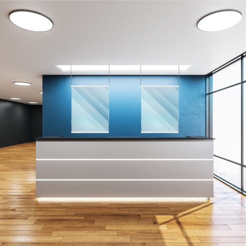 Hangerscreens - Lightweight Transparent Screens Providing Protection Against Viruses 1500x700mm