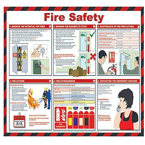 Health and Safety 420x590mm Fire Safety Poster