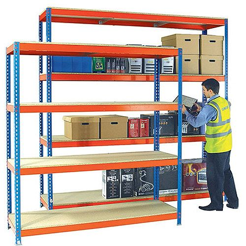 Heavy Duty Painted Additional Shelf 2400x600mm Orange/Zinc 378867