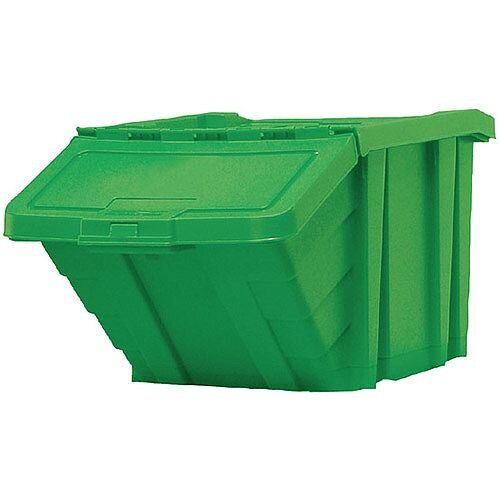 Heavy Duty Storage Bin with Lid Green 369046 124474