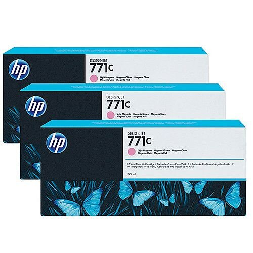 Hp 771C Light Magenta Design Jet Inkjet Cartridge Pack 3 40