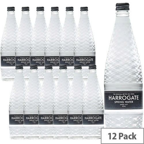 Harrogate Spring Glass Bottled Water Still 750ml Glass Pack of 12