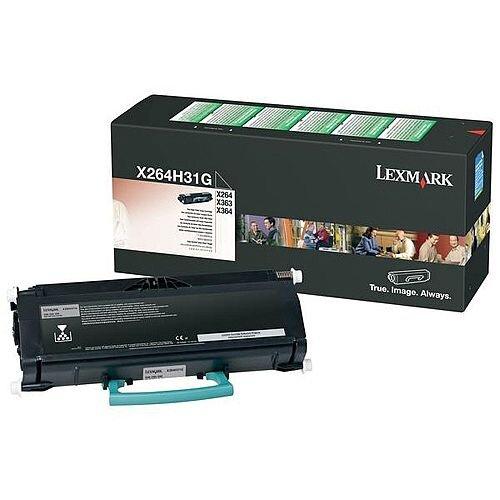 Lexmark X264/363/364 Return Programme Toner Cartridge High Yield Black 9K X264H31G