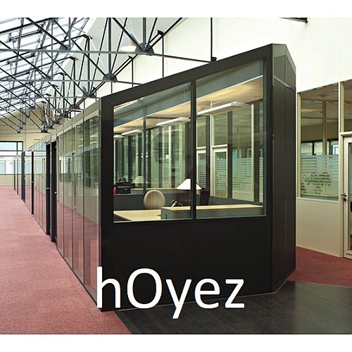 hOyez H9 Relocatable Partitioning With Cover-Trims For Uncommon Planning Flexibility &High Acoustic Performance.