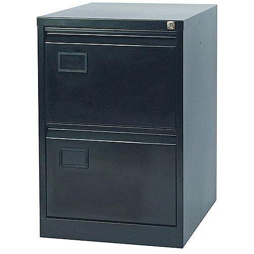 2-Drawer Filing Cabinet Black Jemini By Bisley