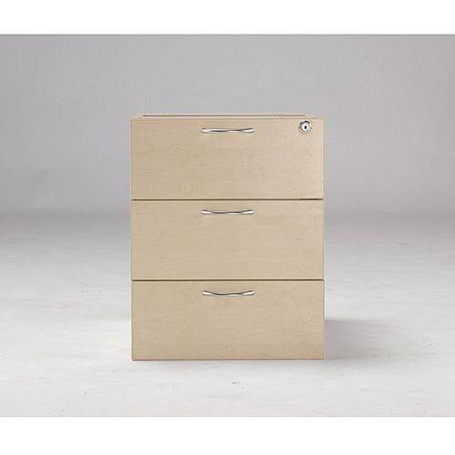 Jemini 3-Drawer Fixed Pedestal Maple KF72080