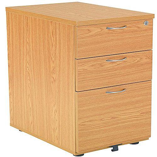 huge discount 3eb3f 28c1d Jemini 3-Drawer Under-Desk Pedestal Oak KF72088