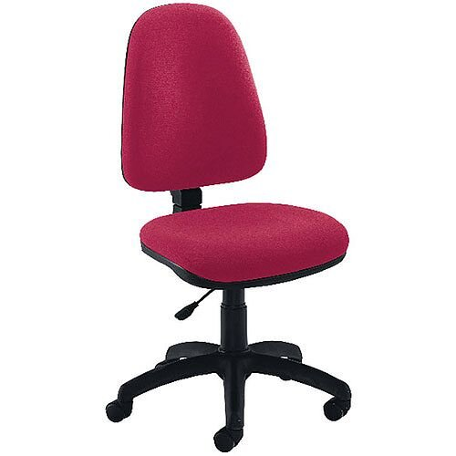 Jemini High Back Task Operators Office Chair Claret