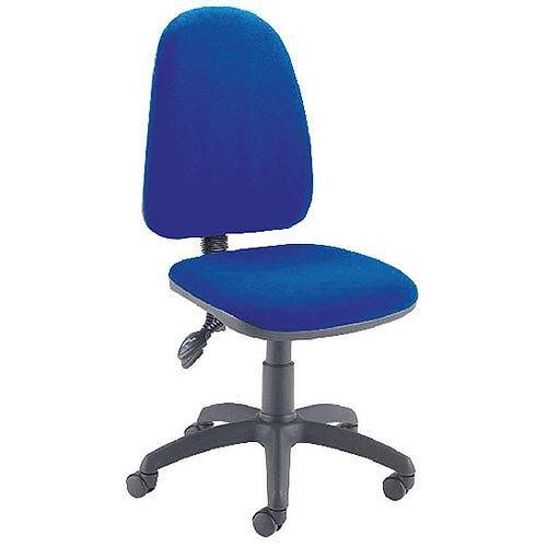 Jemini High Back Tilt Task Operators Office Chair Blue