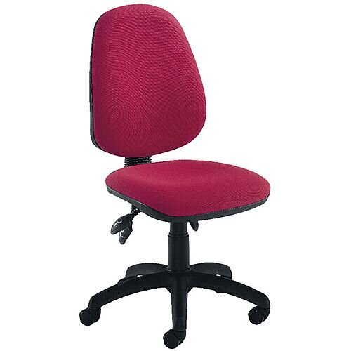 Jemini High Back Tilt Task Operators Office Chair Claret