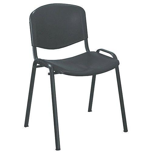 Jemini Multi-Purpose Polypropylene Stacking Chair Black KF72369