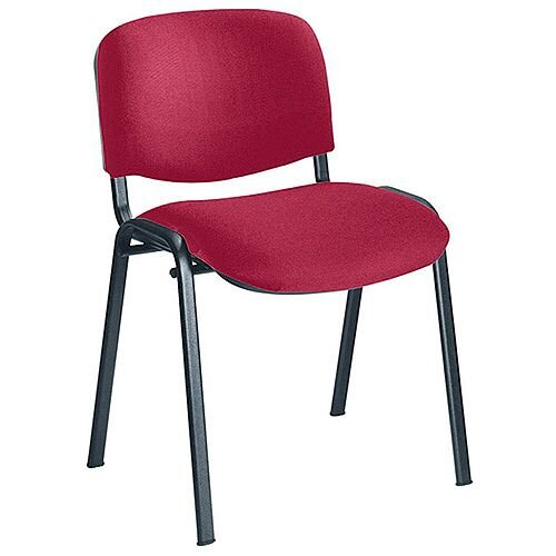 Jemini Ultra Multi-Purpose Stacking Chair Black Legs/Claret KF03345