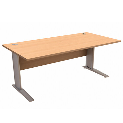 Cantilever Office Desk Rectangular W1800xD800xH725mm Beech Komo