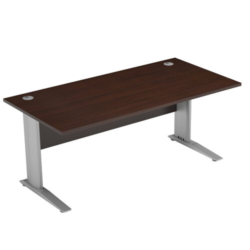 Cantilever Office Desk Rectangular W1800xD800xH725mm Dark Walnut Komo