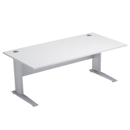 Cantilever Office Desk Rectangular W1800xD800xH725mm White Komo
