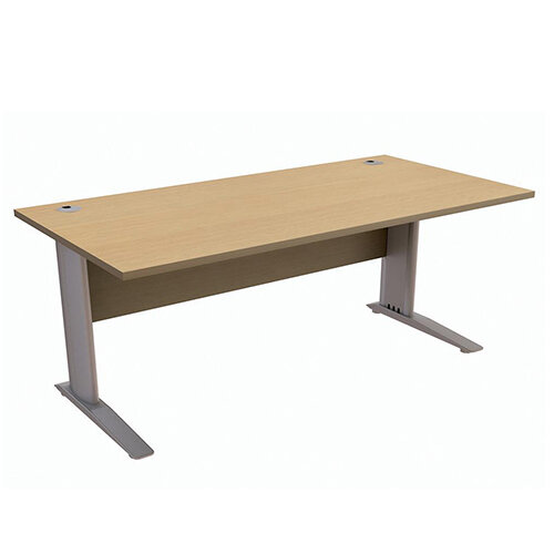 Cantilever Office Desk Rectangular W1800xD800xH725mm Urban Oak Komo