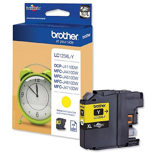 Brother LC125XLY Yellow High Yield Inkjet Cartridge
