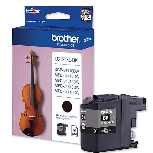 Brother LC127XL-BK Black High Yield Inkjet Cartridge
