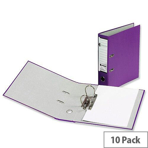 Rexel Karnival 70mm Violet A4 Lever Arch File Pack of 10
