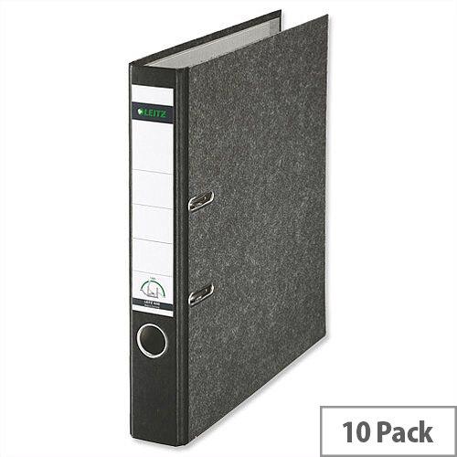 Leitz Standard Mini Lever Arch File A4 Black Pack 10