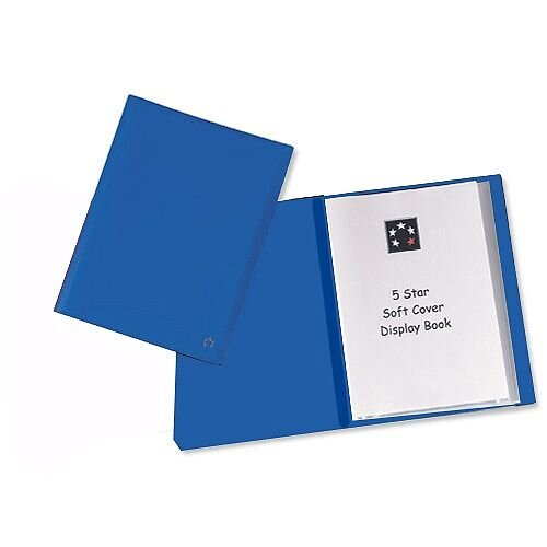 A4 Blue Display Book 20 Pockets Lightweight 5 Star