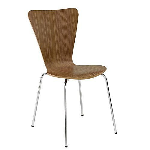 Picasso Wooden Cafe Chair Walnut CH0672WA