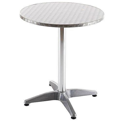 Plaza Aluminium Circular Cafe Table