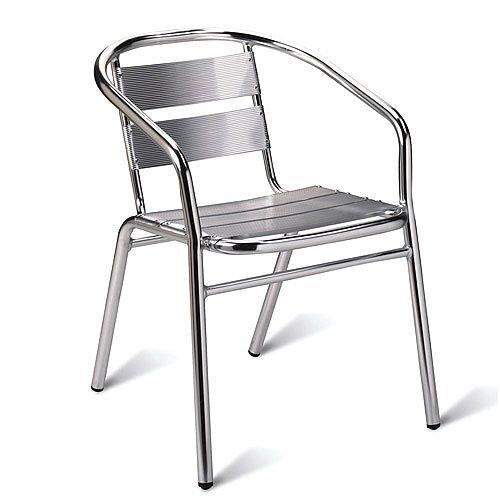Plaza Cafe Armchair - Aluminium