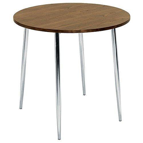 Ellipse 4 Leg Circular Cafe Table Walnut