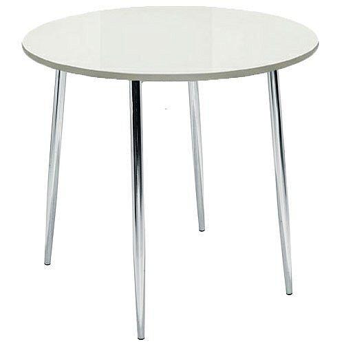 Ellipse 4 Leg Circular Cafe Table White