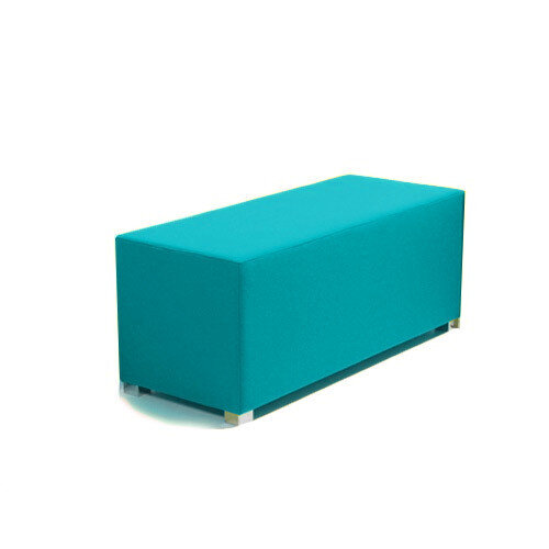 Link Bench Stool Blue - Fully Upholstered in Durable Fabric, Part of LINK Modular Soft Seating Range