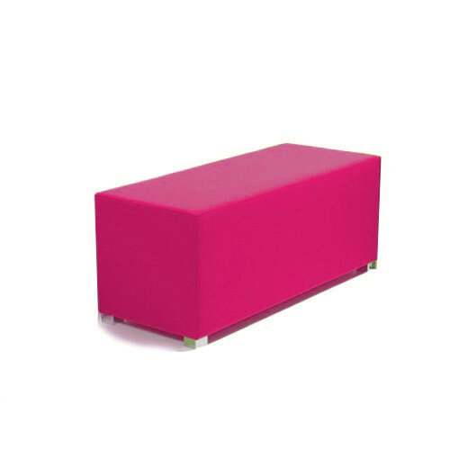 Link Bench Stool Pink - Fully Upholstered in Durable Fabric, Part of LINK Modular Soft Seating Range