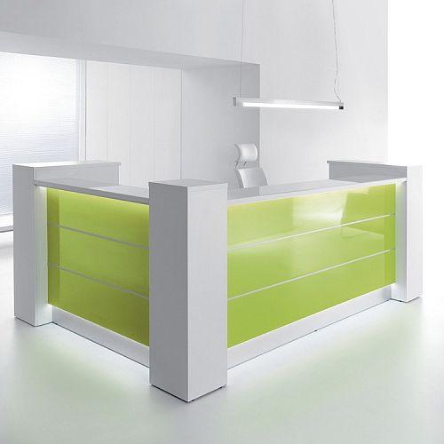 Valde High Gloss Illuminated Reception Unit - L Formation RD24