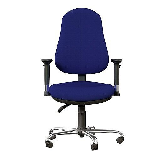 OE Series High Back Posture Operator Office Chair - Blue Fabric