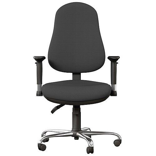 OE Series High Back Posture Operator Office Chair - Grey Fabric