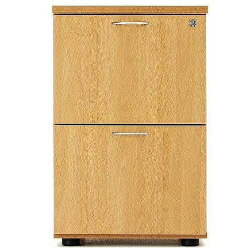 Desk High 2 Drawer Filing Cabinet (600 Deep) Oak