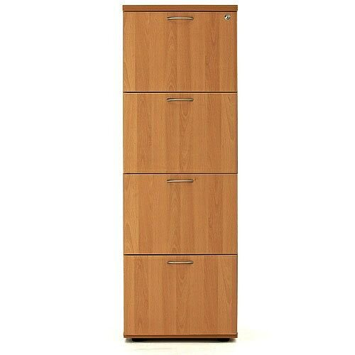 4 Drawer Filing Cabinet (600 Deep) Beech