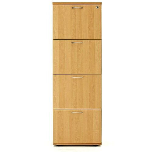4 Drawer Filing Cabinet (600 Deep) Oak