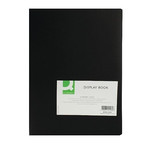 Display Book 40-Pocket Black Q-Connect