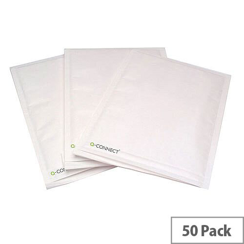 Q-Connect Size 8 270x360mm White Bubble Lined Envelopes Pack of 50