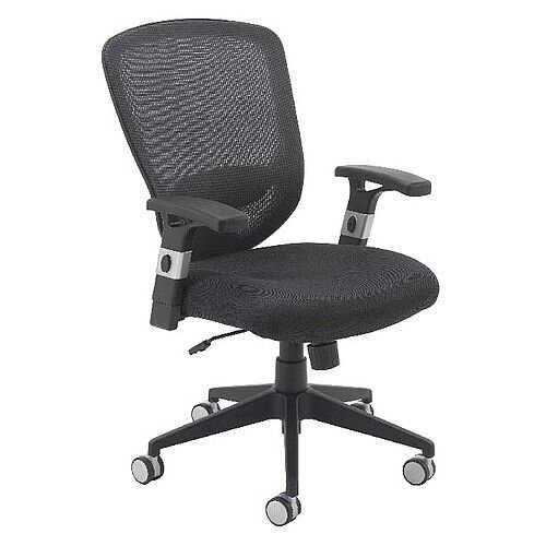 Arista Fusion High Back Mesh Office Chair With Lock and Tilt Black
