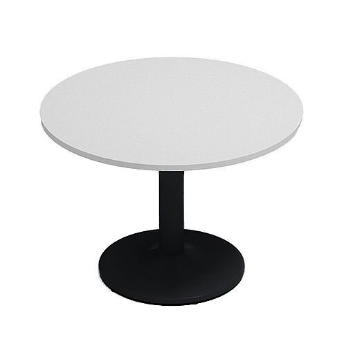 Kito Grey Meeting Room Round Table Black Trumpet Base Dia1000xH725mm