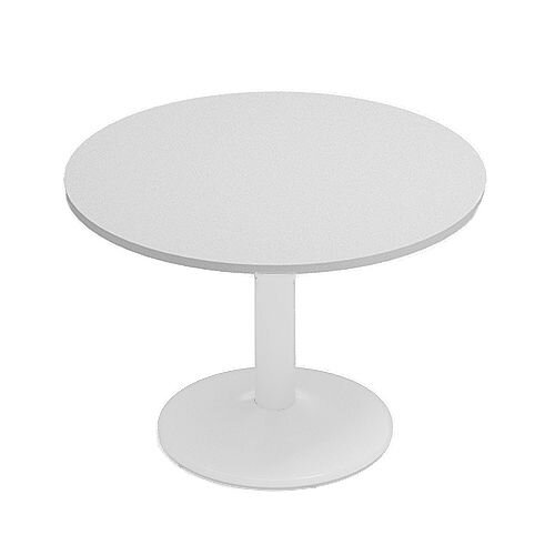 Kito Grey Meeting Room Round Table White Trumpet Base Dia1000xH725mm