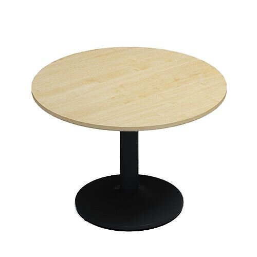 Kito Maple Meeting Room Round Table Black Trumpet Base Dia1000xH725mm