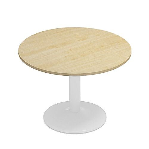 Kito Maple Meeting Room Round Table White Trumpet Base Dia1000xH725mm