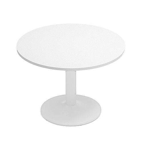Kito White Meeting Room Round Table White Trumpet Base Dia1000xH725mm