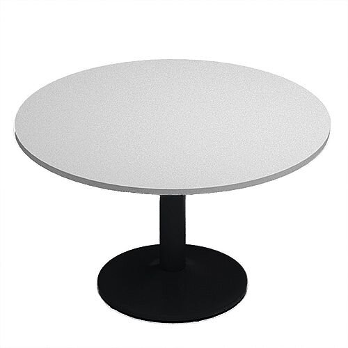 Kito Grey Meeting Room Round Table Black Trumpet Base Dia1200xH725mm