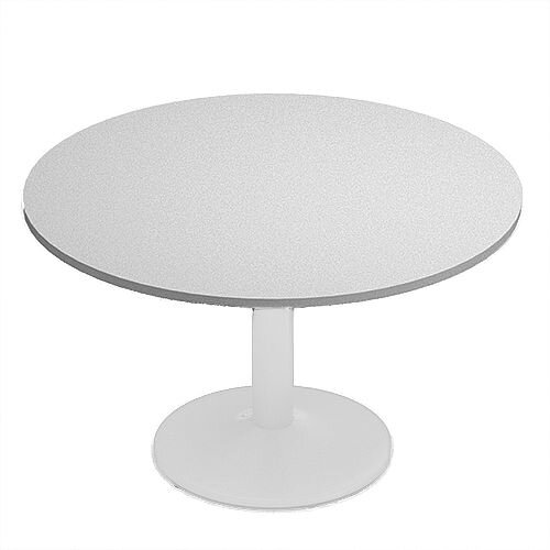 Kito Grey Meeting Room Round Table White Trumpet Base Dia1200xH725mm